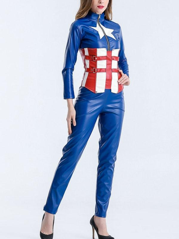 Halloween Women's Captain America Cosplay Costume Avenger Cosplay Costume