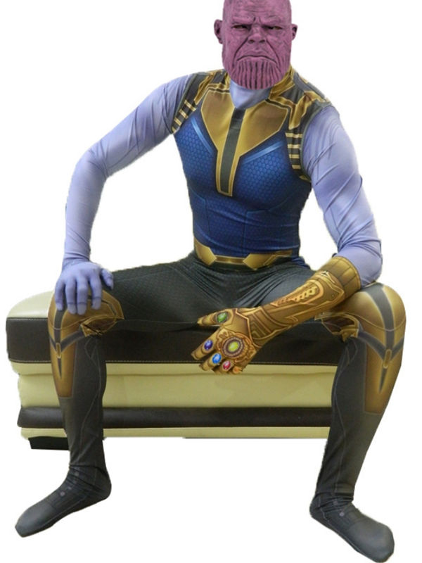 Marvel Avengers 4 End Game Infinity Gauntlet Print Thanos Cosplay Costume