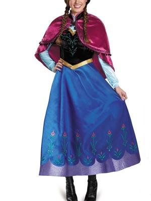 Halloween Princess Dress Frozen Princess Anna Cosplay Costume