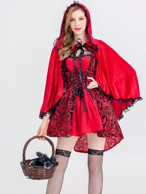 Halloween Little Red Riding Hood Cospaly Costume Adult Cosplay Costume