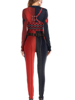 Women's Suicide Squad Harley Quinn Halloween Jumpsuit