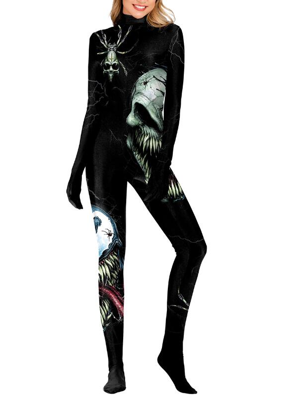 Women's 3D Cosplay Halloween Jumpsuit