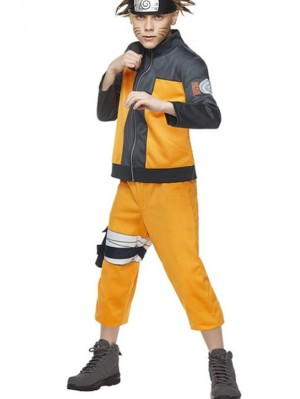 Child Uzumaki Naruto Cosplay Costume Children's Anime Costume