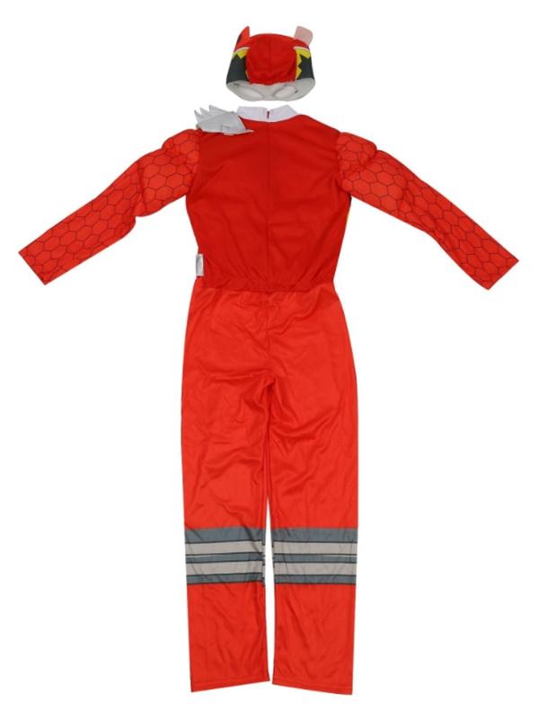Child Red Dino Charge Ranger Costume Children's Superhero Cosplay Costume