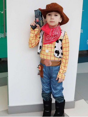 Children's Cowboy Woody Costume Boys Cosplay Costume