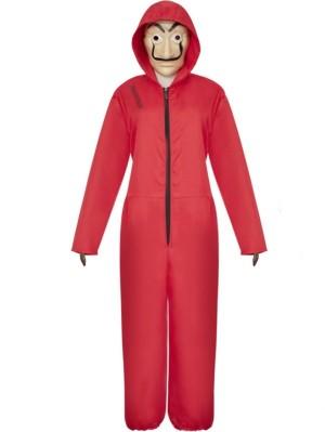 Halloween Red Dali Cosplay Costume La Casa De Papel Cosplay Jumpsuit