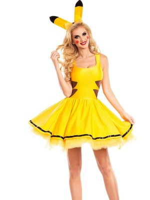 Pokemon Pikachu Cosplay Costume Halloween Cosplay Costume