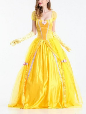 Beauty and the Beast Belle Princess Dress Halloween Cosplay Costume