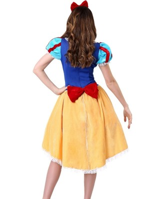 Fairy Tale Snow White Cosplay Dress Halloween Cosplay Costume
