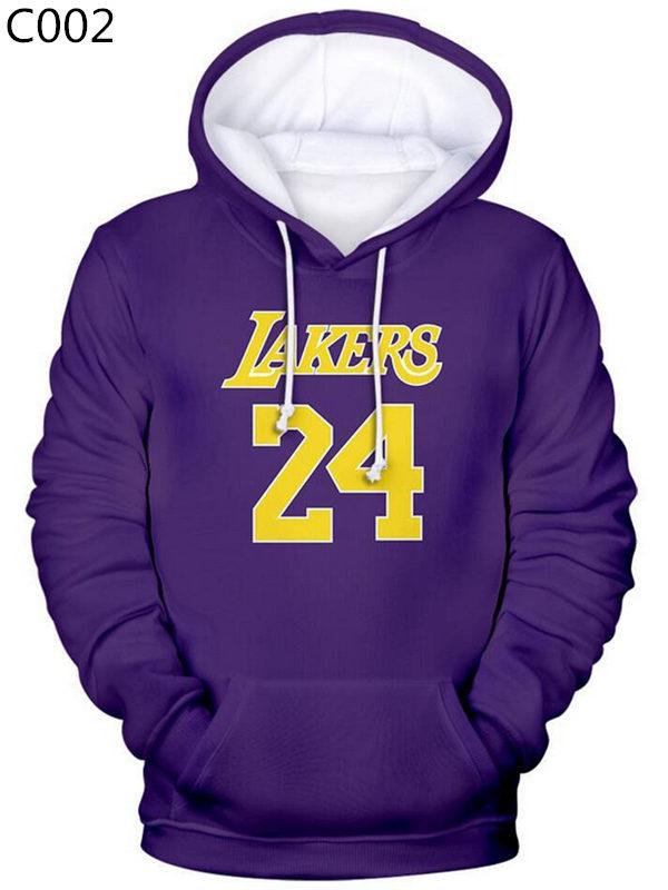 2020 Casual Kobe Bryant 3D Print Hoodie