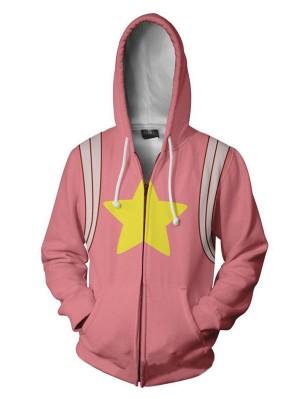 Casual 3D Steven Universe Print Zipper Hoodie