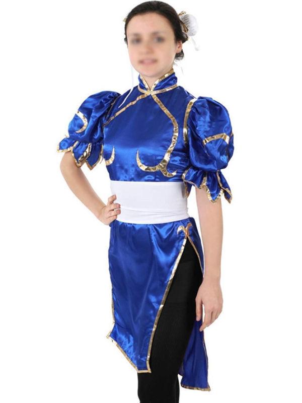 Street Fighter Chunli Cosplay Costume Game Cosplay Costume