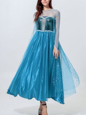 Adult Princess Elsa Costume Frozen Cosplay Costume