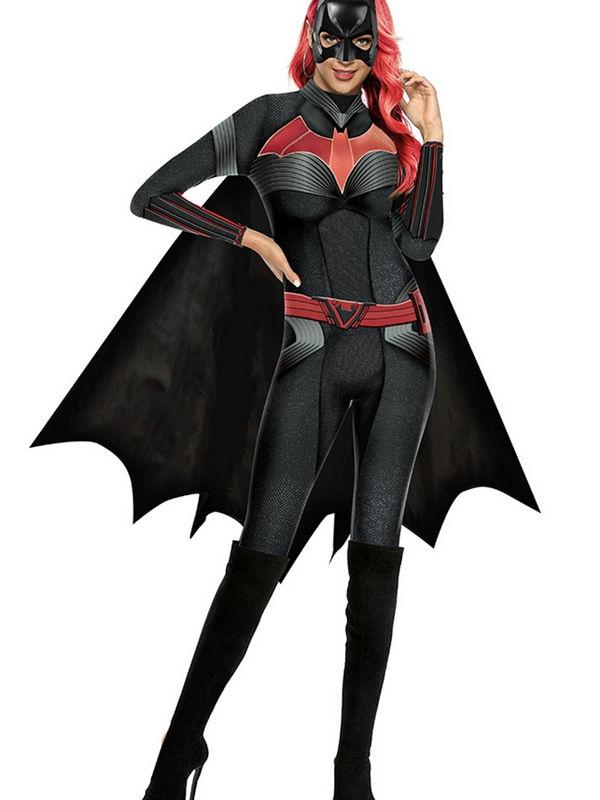 Women's 3D Batwoman Print Jumpsuit Cosplay Costume