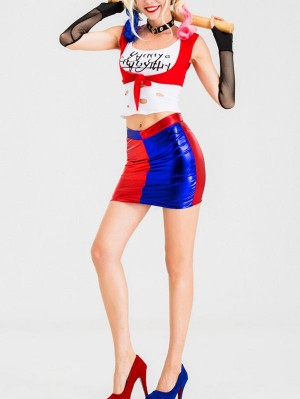 DC Suicide Squad Harley Quinn Cosplay Costume