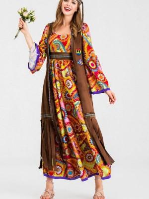 Halloween Retro 70s Disco Hippie Cosplay Costume