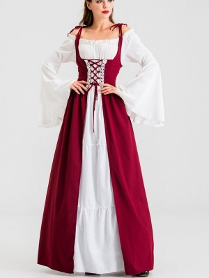 Halloween Retro Palace Costume Medieval Princess Queen Cosplay Costume