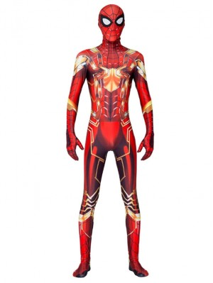 New Iron Spider Man Cosplay Costume Halloween Cosplay Costume