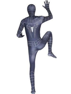 Professional Black Spider Man Costume Halloween Cosplay Costume