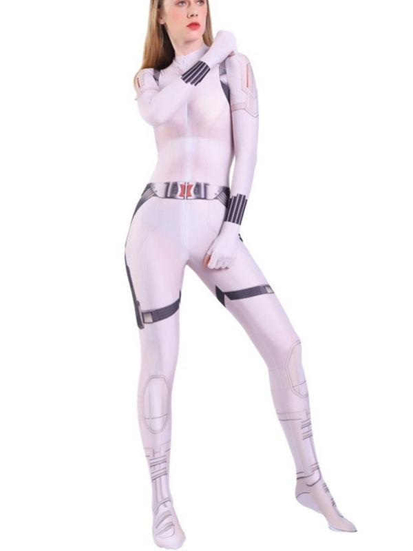 2020 Black Widow White Costume Marvel Cosplay Costume