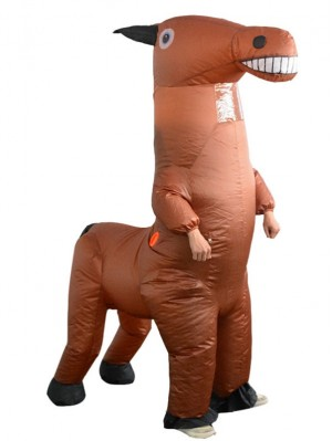 Halloween Funny Horse Inflatable Suit Animal Cosplay Costume