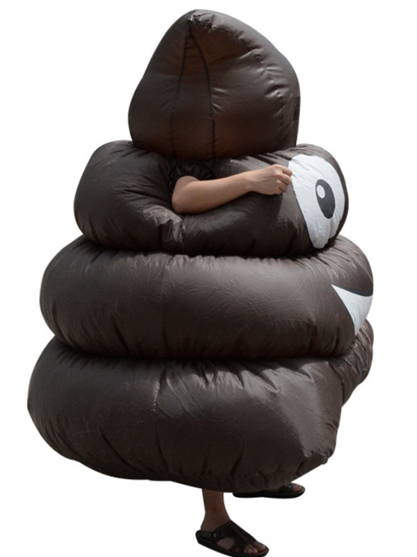 Halloween Funny Pile of Poo Inflatable Suit Shit Cosplay Costume