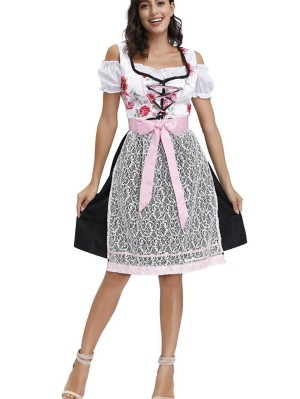 Adult German Oktoberfest Beer Maid Costume For Women