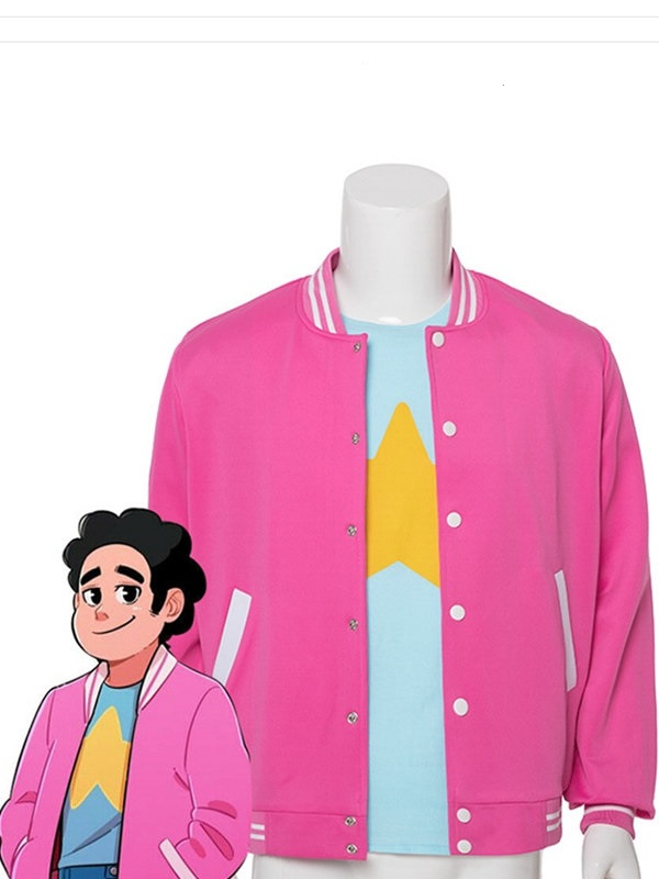 Animation Steven Universe Cosplay Costume Short Sleeve T-shirt And Jacket
