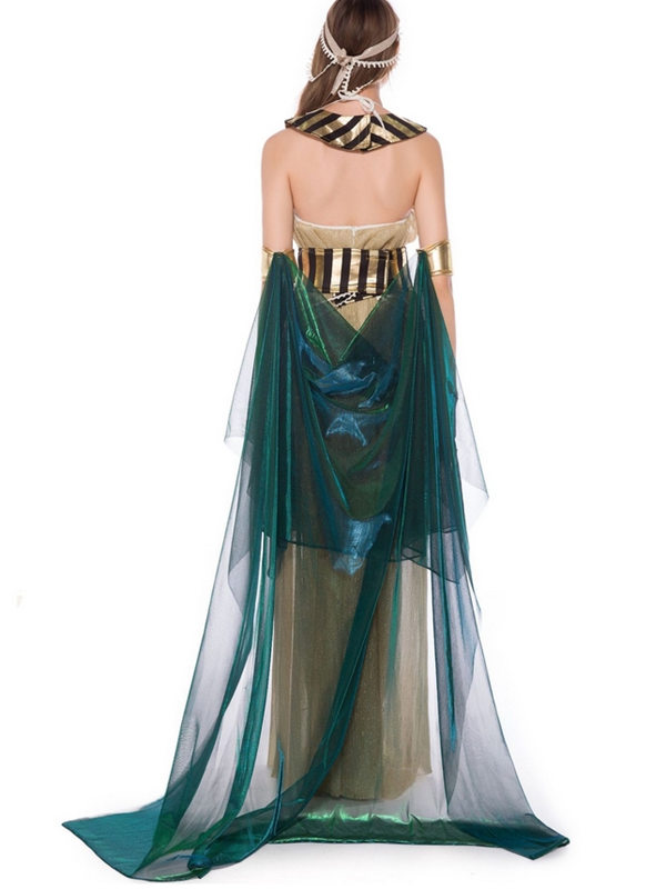 Halloween Cleopatra Cosplay Masquerade Ball Costume For Women