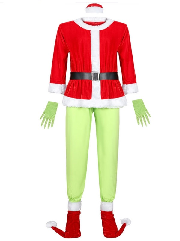Christmas Santa Grinch Cosplay Costume For Men