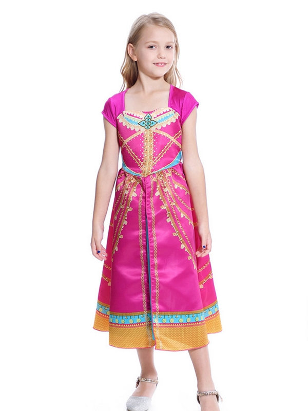 Aladin Red Princess Jasmine Cosplay Costume For Women And Girl
