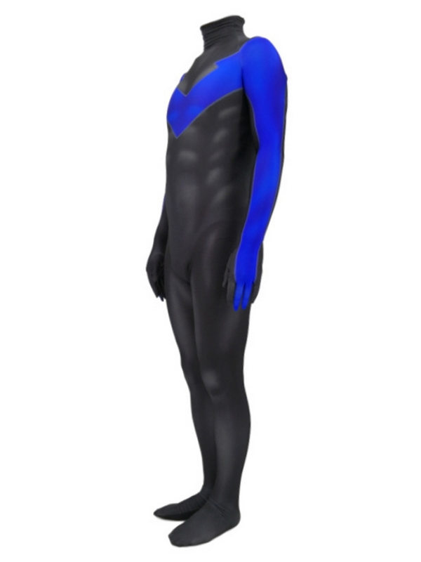 DC Nightwing Cosplay Costume 3D Print LYCRA Jumpsuit