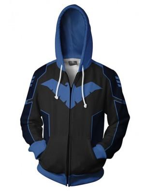 Casual 3D DC Quinn Nightwing Print Hoodie