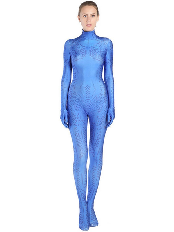 Women's X-MEN Mystique Costume Cosplay Jumpsuit For Adult And Kid