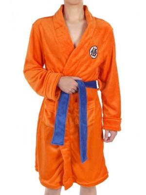 Coral Fleece Dragon Ball Goku Bathrobe For Adult And Children