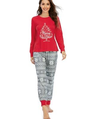 Christmas Tree Print Family Matching Pajamas Christmas Jammies Set