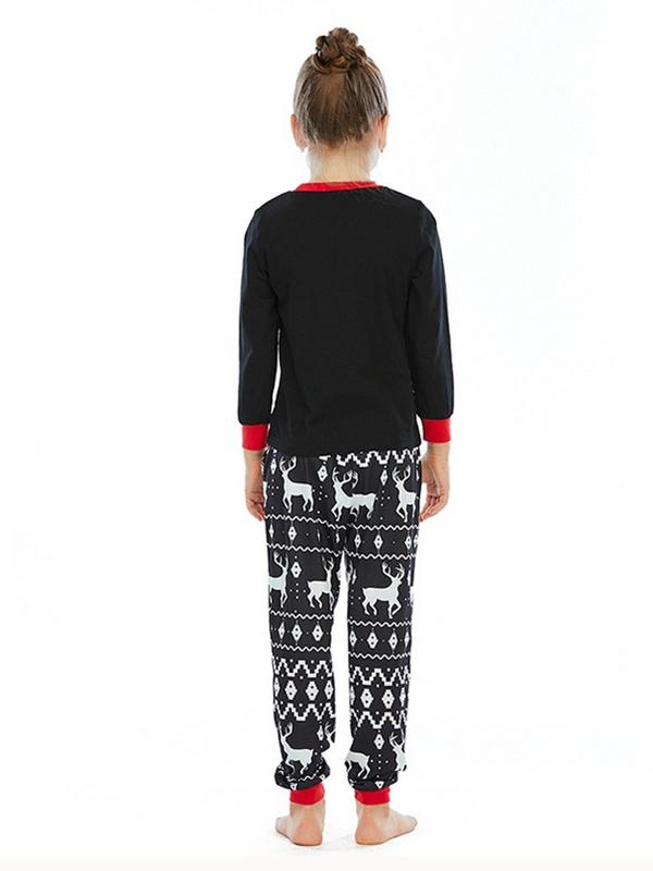 Family Matching Pajamas Long Sleeve Deers Print Christmas Loungewear