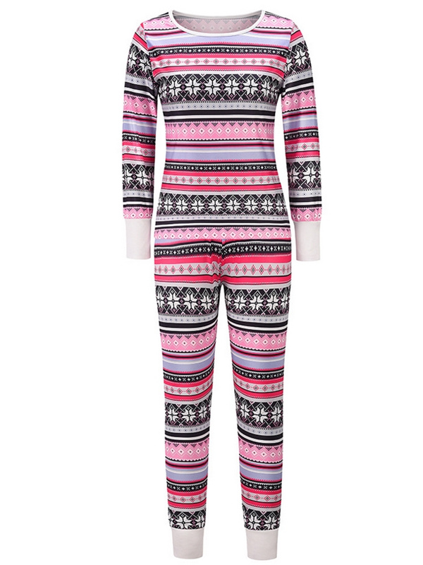Women's Christmas Loungewear Set Long Sleeve Print Top Pant Set