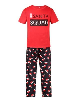 Christmas Matching Pajamas For Family Christmas Hats Print Pajamas Set