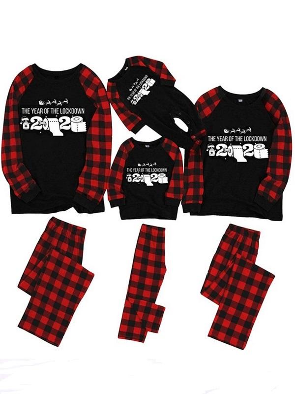 Christmas Matching Pajamas Family 2020 The Year Of The Lockdown Print Pajamas Set