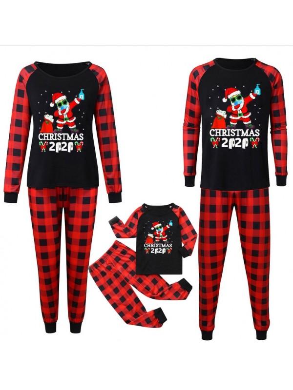Christmas Matching Family Pajamas Plaid Christmas 2020 Print Pajamas Set