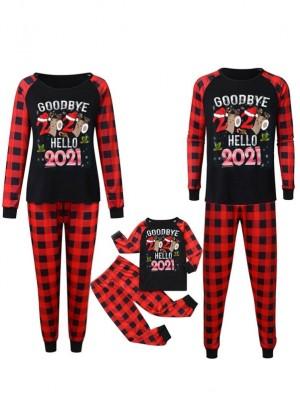 Family Matching Christmas Pajamas Goodbye 2020 Hello 2021 Print Pjs Set