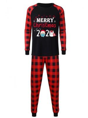 Family Matching Christmas Pajamas Merry Christmas 2020 Print Pjs Set