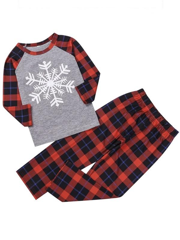 Christmas Matching Pajamas For Family Snowflake Print Pajamas Set