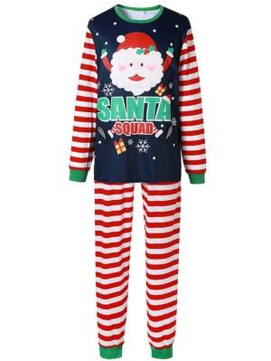 Christmas Matching Pajamas For Family Santa Squad Print Pajamas Set