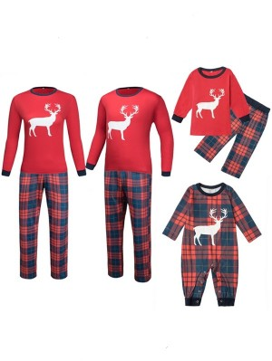 Christmas Moose Print Matching Pajamas Set For Family