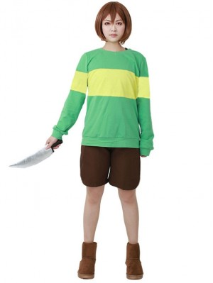 Undertale Chara Cosplay Costume Game Costume