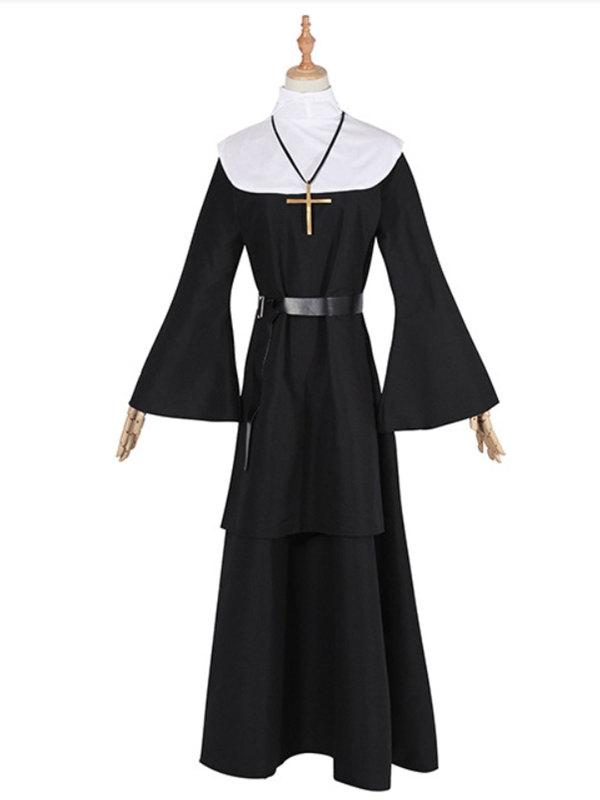 The Nun Cosplay Costume Adult Nun Costume