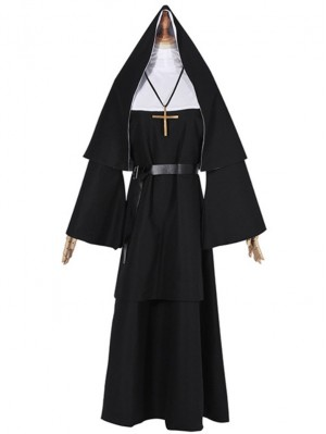 The Nun Cosplay Costume Adult Nun Costume