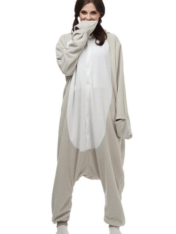 Adult Grey Seal Onesie Pajamas Animal Onesie For Couple